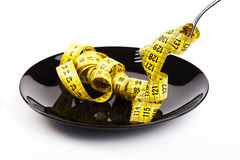 Yellow Tape on Plate Royalty Free Stock Images