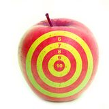 Yellow target. Apple with target on it Stock Images