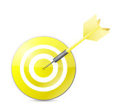 Yellow target illustration design Royalty Free Stock Photo