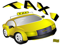 The yellow taxi Stock Photo