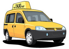 Yellow taxi Stock Images