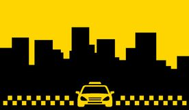 Yellow taxi backdrop - transport background Royalty Free Stock Photos