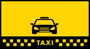 Yellow taxi background Royalty Free Stock Photo