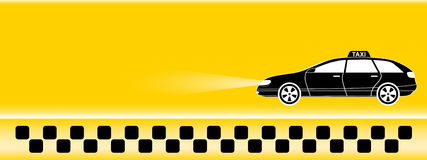 Yellow taxi background Stock Photography
