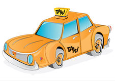 yellow taxi cab Royalty Free Stock Photo