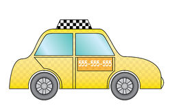 Yellow taxi cab Royalty Free Stock Photography