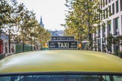 Yellow Taxi Car stock image