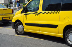 Yellow taxi car Royalty Free Stock Photography