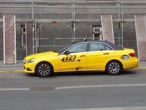 Yellow taxi car in Copenhagen Royalty Free Stock Image
