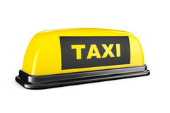 Yellow Taxi Car Roof Sign Royalty Free Stock Photography