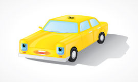Yellow taxi car. Shown in isometry. eps10 vector illustration Stock Image