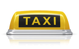 Yellow taxi car sign Royalty Free Stock Image