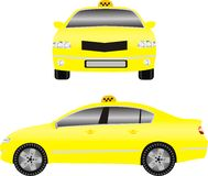 Yellow taxi car Stock Photo