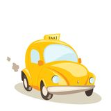 Yellow taxi car, vector illustration Stock Photos