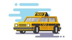 Yellow taxi car vector Royalty Free Stock Image