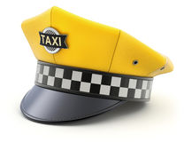 Yellow taxi driver cap Royalty Free Stock Images