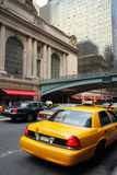 Yellow taxi at Grand Central Terminal Stock Photos