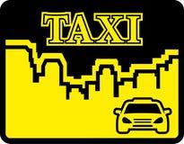 Yellow taxi icon on flat design style Stock Photo