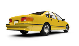 Yellow taxi isolated over whie Stock Images