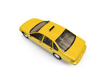 Yellow taxi isolated over whie. Isolated yellow car on a white background Royalty Free Stock Photography