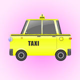 Yellow taxi isolated vector illustration