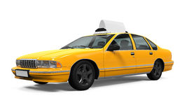 Yellow Taxi Isolated Stock Image