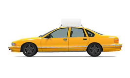 Yellow Taxi Isolated Stock Photo