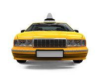 Yellow Taxi Isolated Royalty Free Stock Photo
