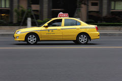 Yellow taxi Royalty Free Stock Photo