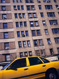 Yellow taxi in New York Stock Images