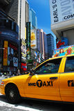 Yellow Taxi in New York City Stock Photo