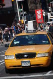Yellow taxi in New York Royalty Free Stock Photos