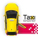 Yellow Taxi on the Red Carpet Royalty Free Stock Photos