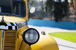 Yellow taxi Stock Image