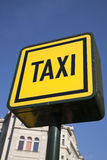 Yellow Taxi Sign Stock Photo