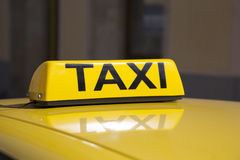 Yellow Taxi Sign Royalty Free Stock Images