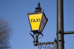 Yellow Taxi Sign Royalty Free Stock Photo