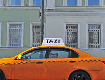 Yellow taxi Royalty Free Stock Image