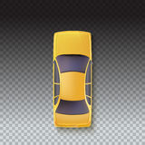 Yellow Taxi - Top view Stock Image