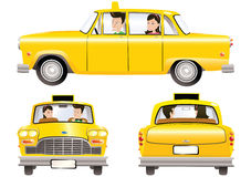 Yellow taxicab Stock Photography