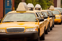 Yellow taxicabs Royalty Free Stock Photo