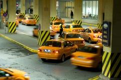 Yellow taxies Royalty Free Stock Photos