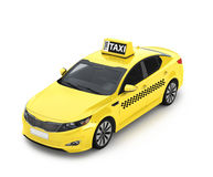 Yellow taxis  isolated on a white background. Royalty Free Stock Image