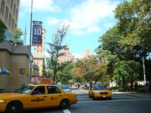 Yellow Taxis in New York. Public transport in the city stock photography