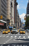 Yellow taxis at the NY street Royalty Free Stock Photos