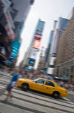 Yellow taxis in the streets of Manhattan, New York Stock Photo