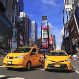 Yellow Taxis in Times Square Royalty Free Stock Photography
