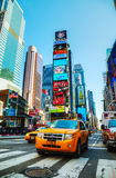 Yellow taxis at Times Square in New York City Royalty Free Stock Images