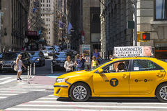 Yellow taxy Stock Photo
