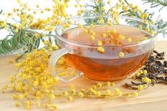 Yellow tea royalty free stock photo